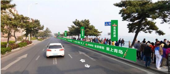 们一起 罐名 青岛马拉松 超前观看2017青岛马拉松上的 青啤风景图片